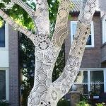 ажурная одежка для дерева
