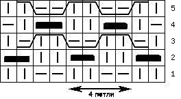 узор мелкая решетка-схема