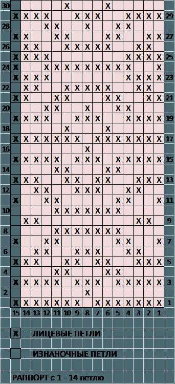 Схема горизонтальные ромбы 2