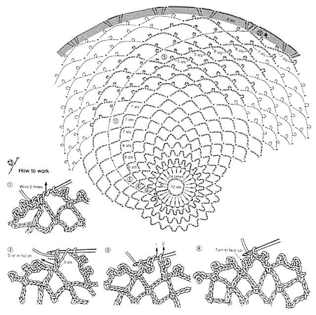 схема салфетки лесная паутинка 1
