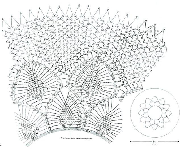 схема салфетки лесная паутинка 2