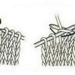 Условные обозначения петель и описание приемов их вязания спицами