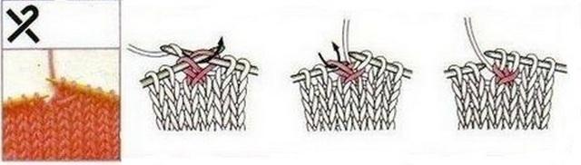 Вязание петлю протянуть через