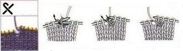 протянуть лицевые петли одну через другую влево