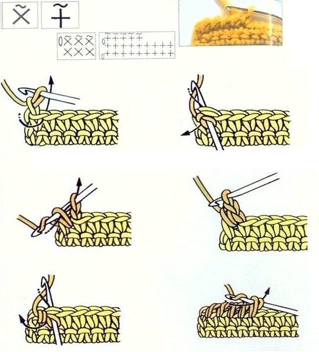 Вязание крючком рачий шаг видеоурок 49