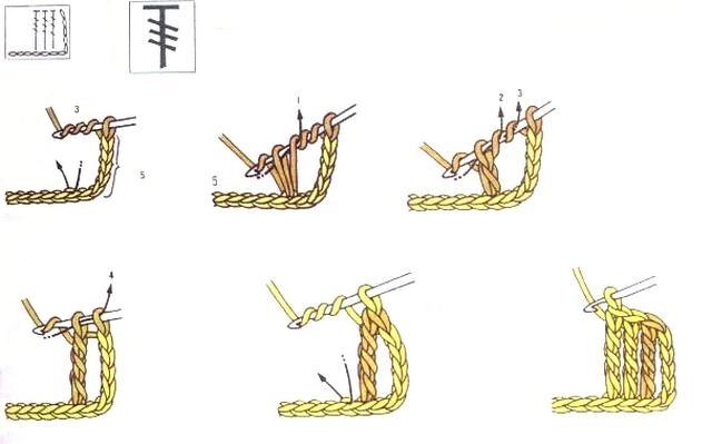 столбик с тремя накидами