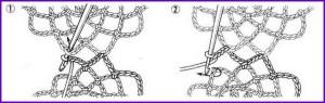 Соединение мотивов крючком 1