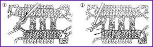 Соединение мотивов крючком 4