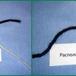 Незаметный узелок для соединения нитей