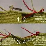 Переход на новую нить без узлов при вязании крючком