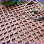 Вязание филейной сеточки из центра