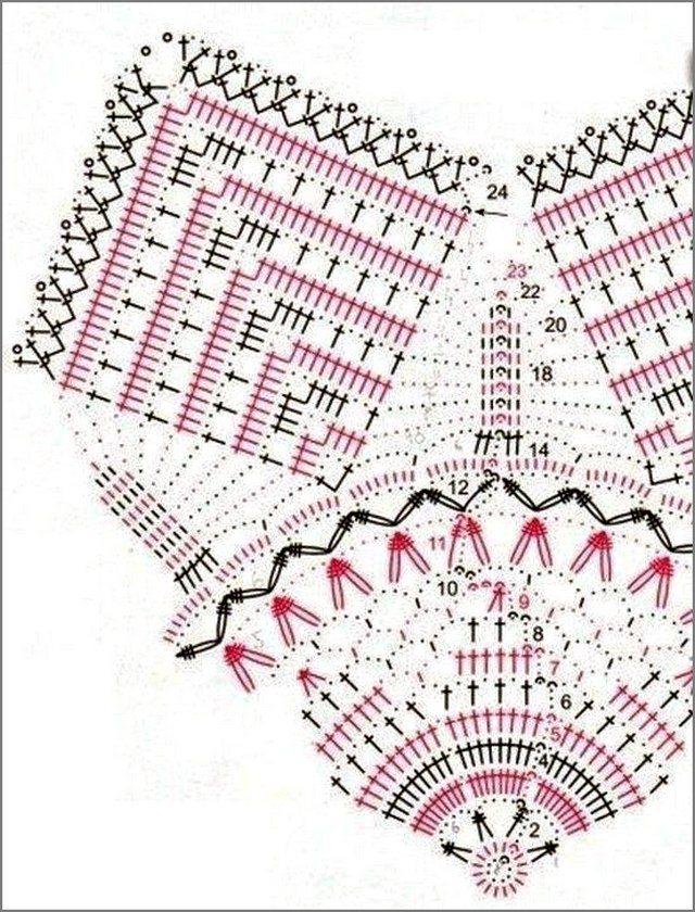 рождественский цветок схема