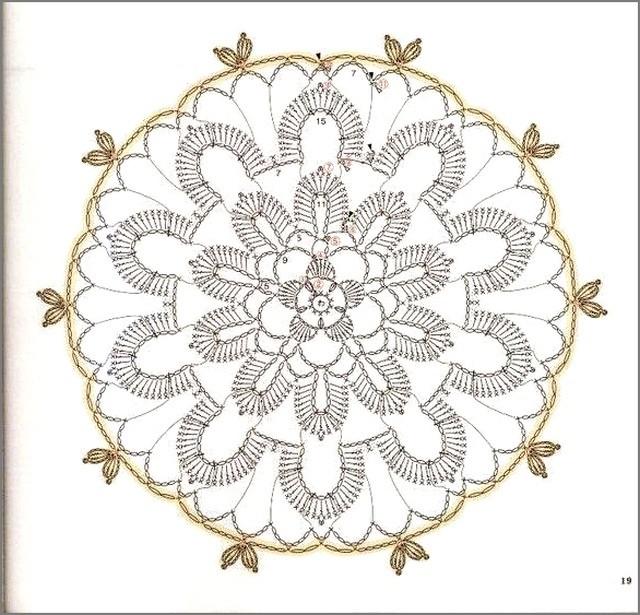 новогодний цветок схема