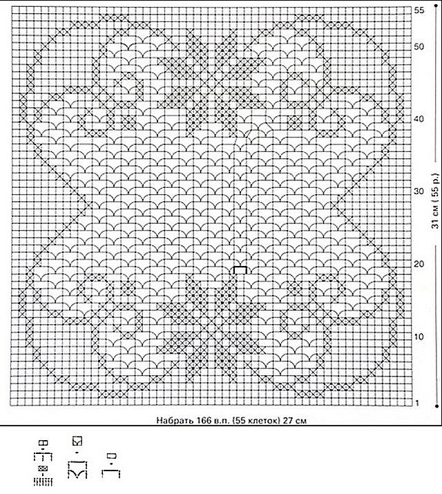 схема квадратной со звездами